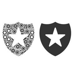 Guard mosaic of service tools vector