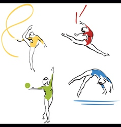 gymnastics collection vector image