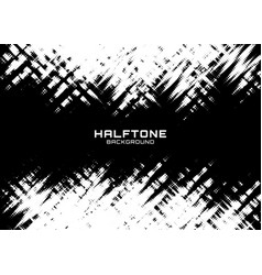 halftone dots pattern frame horizontal background vector image