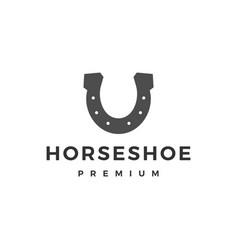 Horse shoe u logo icon vector
