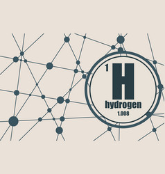 hydrogen chemical element vector image
