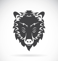 images of bear head on a white background vector image