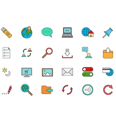 Internet colorful icons set vector image