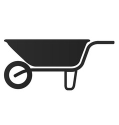 isolated wheelbarrow silhouette vector image