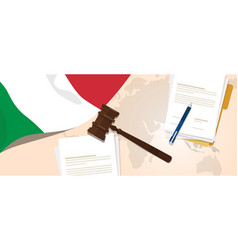 Italy law constitution legal judgment justice vector