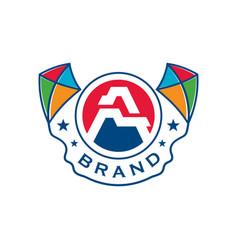 kite logo design vector image