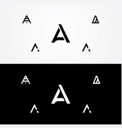 letter a great big logo typo design vector image