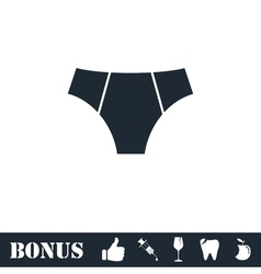 Male underpants icon flat vector image