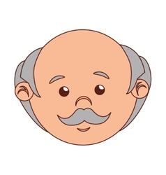 man cartoon old bald isolated vector image