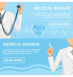 Medical Horizontal Banners Webpage Design vector