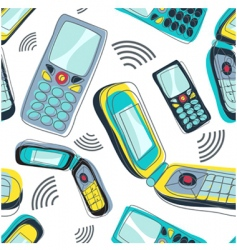 mobile phone pattern vector image