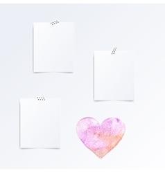 Mock up template set of folded in half leaflets vector image