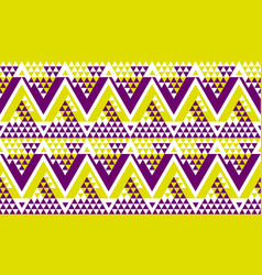 modern zig-zag seamless pattern vector image