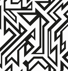 monochrome futuristic geometric seamless pattern vector image
