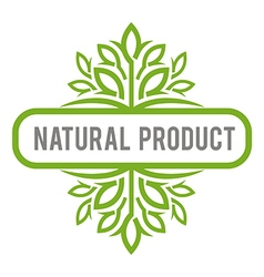 natural product organic healthy garden design vector image