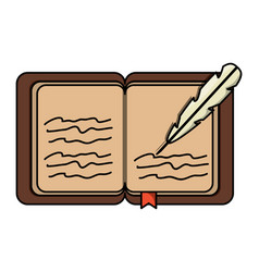 Old book icon image vector
