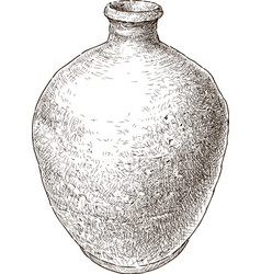 Old clay pot vector
