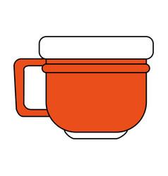 Orange cup design vector