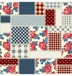 Patchwork in country style vector