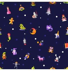 Pattern of modern flat design fairy tales magic vector image
