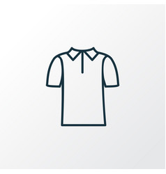 polo shirt icon line symbol premium quality vector image