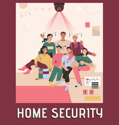 poster home security concept vector image