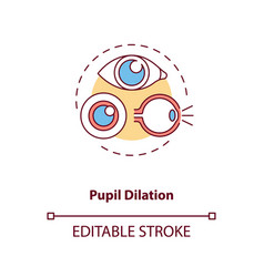 Pupil dilation concept icon vector
