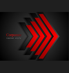 Red arrows geometry corporate background vector image