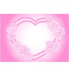 rose heart frame vector image