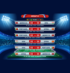Russia world cup group b vector