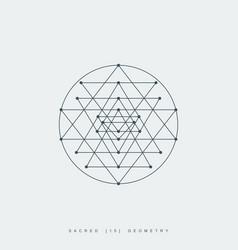 sacred geometry sri yantra vector image