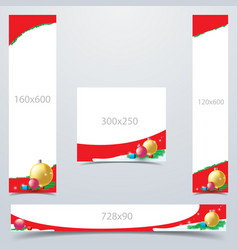 set of banner and template vector image