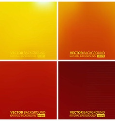 Set of orange backgrounds vector