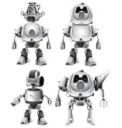 set of robot character vector image