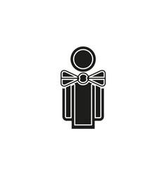 silhouette waiter waiter man vector image