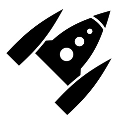 Space rocket icon simple style vector