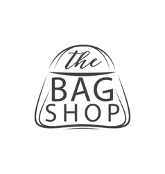 The bag shop Handdrawn Isolated on white vector