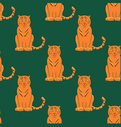 Tiger seamless pattern background gorgeous exotic vector