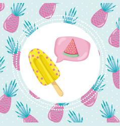Tropical summer concept design vector