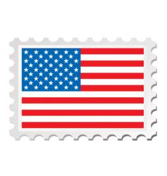 us flag card vector image
