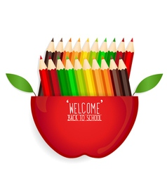 Welcome back to school with Apple and Color vector image