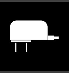 Charger white color icon vector