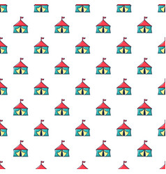 circus tent pattern seamless vector image vector image