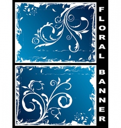 grunge floral banners vector image vector image