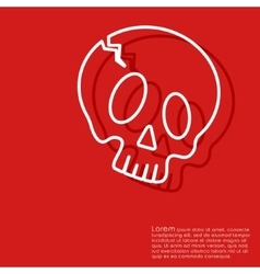 Halloween red background vector image
