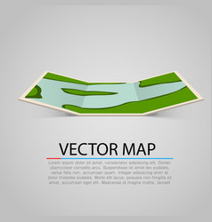 modern and bright paper map vector image vector image