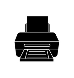 printer with paper icon vector image