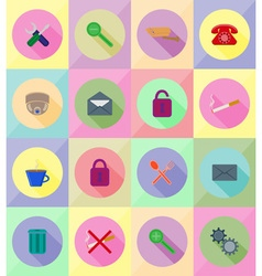 service flat icons 19 vector image vector image