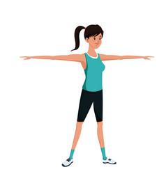 sport girl exercise training image vector image