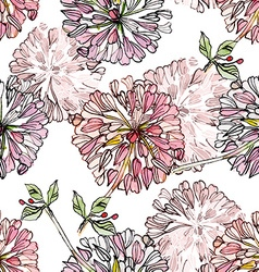 vintage floral seamless texture watercolor vector image vector image